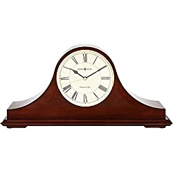 Howard Miller Christopher Mantel Clock 635-101 – Windsor Cherry Wood with Quartz & Single Chime Movement