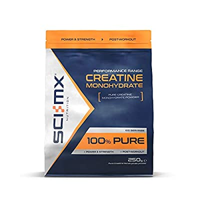 SCI-MX Nutrition Pure Creatine Monohydrate Powder, 250 g, Flavourless, 50 Servings
