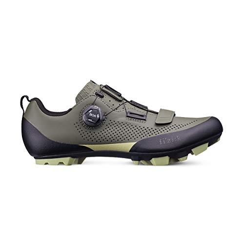 Fizik X5 Terra - Zapatillas de Ciclismo para Hombre, Hombre, Zapatillas de Ciclismo, Verde Militar Tangy Verde, 14.5 UK