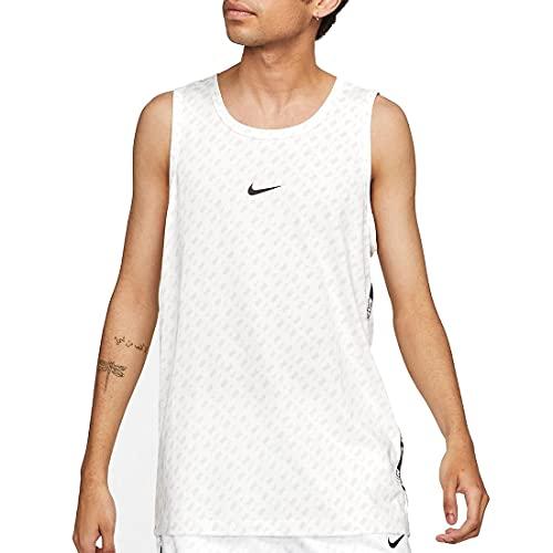 NIKE M NSW Repeat Tank PRNT Camiseta de Tirantes para Hombre, Negro/Blanco, Small