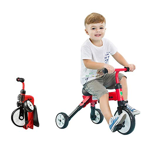 Lowest Price! Zjnhl Children's Fun/Children Tricycle Trike Stroller First Bike 2 In1, Foldable, Defo...