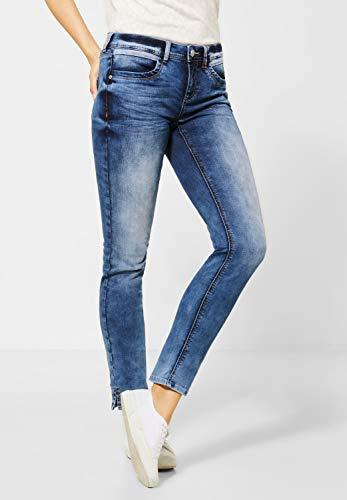 STREET ONE Damen Jane Jeans, Dark Blue Random Bleached, W29/L28