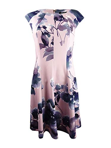 DKNY Womens Seamed Floral Cocktail Dress Pink 6
