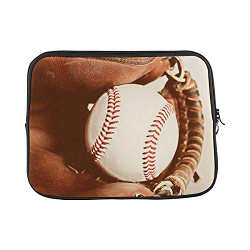 Baseball and Glove Laptop Sleeve Case 11 11.6 Inch Briefcase Cover Protective Notebook Laptop Bag