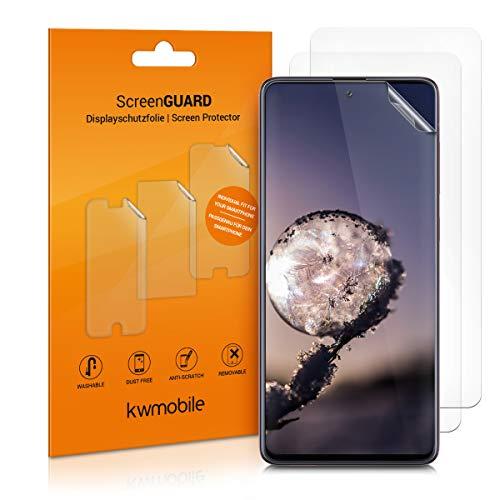kwmobile 3x pellicola salvaschermo compatibile con Samsung Galaxy A71 - Film protettivo proteggi telefono - protezione antigraffio display smartphone