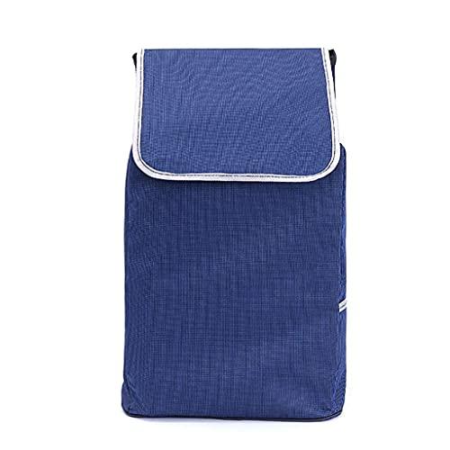 WYZXR Einkaufswagen Ersatztasche Einkaufswagentasche mit Seitentaschen Ersatztasche für Trolley,Oxford Tuch wasserdichte Aufbewahrungstasche 39L (Größe: 34x23x50cm) Einkaufen