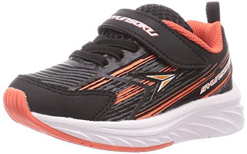 [シュンソク] スニーカー 運動靴 幅広 軽量 15~25cm 3E キッズ 男の子 SJJ 8940 ブラック 20 cm