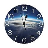 春分を歓迎する春 壁掛け時計 おしゃれ デジタル ミュート 円形 掛け時計 置き時計 目覚まし時計 インテリア 装飾