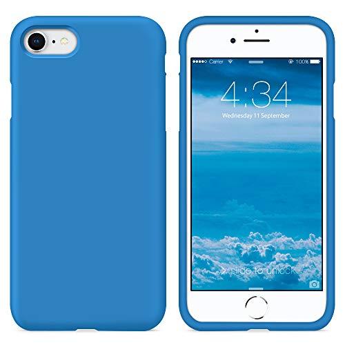 SURPHY Funda iPhone SE 2020, Funda para iPhone 7 iPhone 8 Silicona Case, Carcasa Silicona Líquida con Forro de Microfibra, Compatible con iPhone 7 iPhone 8 iPhone SE 2020 4.7', Surf Azul