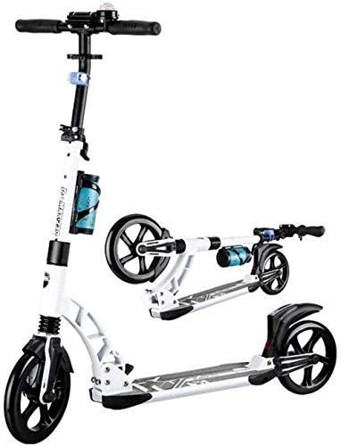 FHDFH Patinete para niños, scooter para adultos, 2 ruedas, ultraligero, plegable, antideslizante, adecuado para adolescentes, adultos, niños y niñas, color negro