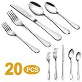 Best Flatwares - Silverware Set,MASSUGAR 20-Piece Silverware Flatware Cutlery Set, Stainless Review