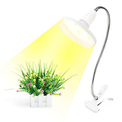 Led Cultivo,20w Grow Light con 360° Adjustable Clip,Lámpara para Plantas con Espectro Completo 4000k Luces Bulb,por Luz Plantas Semillas Hidroponia Jardinería Bonsai