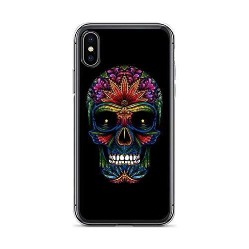 blitzversand Handyhülle Skull SCHÄDEL kompatibel für Samsung Galaxy A51 Toten Kopf Hanf Schutz Hülle Hülle Bumper transparent r& um Schutz Cartoon M10