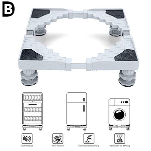 B-D Einstellbare Waschmaschinen Untergestell Sockel Mit 4 Starken Füßen Für Herde Kühlschränke Gefrierschränke Podeste Kühlschrank Halter Halterung 300 Kg Tragfähigkeit,#B