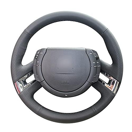 Qind1aS - Funda para volante de coche, color negro