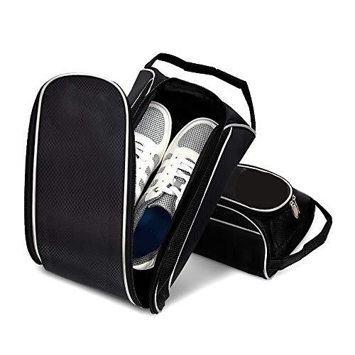 wangcheng Golfschuhbeutel, Golfschuhbeutel Für Herren Und Damen, Schuhbeutel Mit Reißverschluss Mit Belüftung Und Außentaschen Für Socken, T-Shirts Usw.