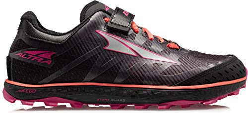 ALTRA Women's ALW1952G King MT 2 Trail Running Shoe, Black/Coral/Pink - 5.5 M US
