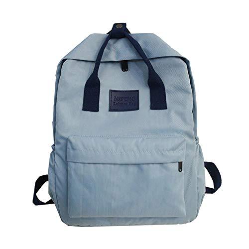 ASHX modische Schulranzen für Teenager, Mädchen, Kinder, Nylon, Kinder, Studenten, Schulranzen blau