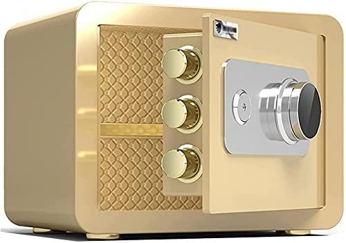 FDGSD Cajas Fuertes Caja Fuerte a Prueba de Fuego de Acero, pequeña Caja de Seguridad para el hogar, contraseña mecánica, Cerradura con Llave, Caja de Efectivo, archivador, antirrobo y antitaladro