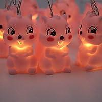 ledテープ YKBBA LED漫画ユニコーンランプシリコーン動物文字列妖精ライトバッテリー駆動クリスマスルーム新年装飾Style8Squirrel