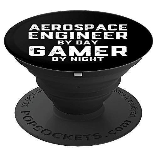 Aerospace Engineer By Day Gamer By Night - Space Engineer - PopSockets Ausziehbarer Sockel und Griff für Smartphones und Tablets