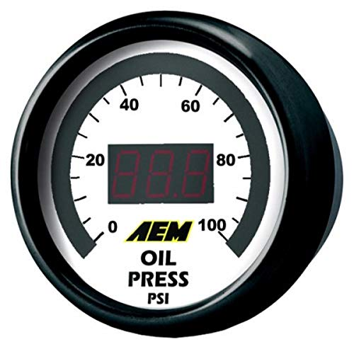 AEM 30-4401 0-100 PSI Oil or Fuel Pressure Gauge