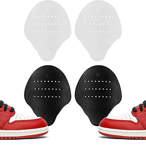 Quiqs - 2 Pares Sneakers Shields Protect Blanco y Negro | Protector Antiarrugas Sneakers Shield | Protector de Pliegues para Yeezy, AF, Jordan | Par Blancos Sneaker Shield...