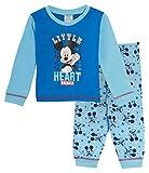 Pyjama long pour bambins garçons avec motif de Mickey Mouse de Disney pleine. Ensemble de vêtements de nuit à offrir -  - 18-24 mois