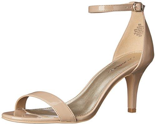 Bandolino Footwear Women's Madia Heeled Sandal, Café Latte, 8