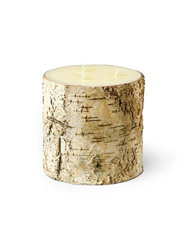 Serene Spaces Living Birch Bark Candle – Pillar Style Candle Brings Nature Indoors, Ideal for Weddings, Parties, Events, Restaurants, Home Decor, 6' in Diameter & 6' Tall