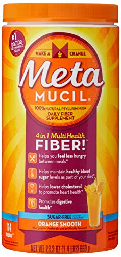 Metamucil Orange Smooth Texture Sugar Free Powder - 114 Ds