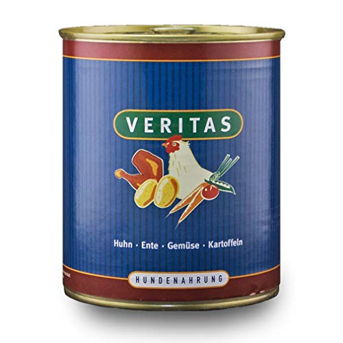 veritas Hundemenü Hundefutter nass – Gourmet Sorte Huhn Ente Gemüse Kartoffeln - Nassfutter für Erwachsene Hunde I Hundenassfutter (5X 800g)