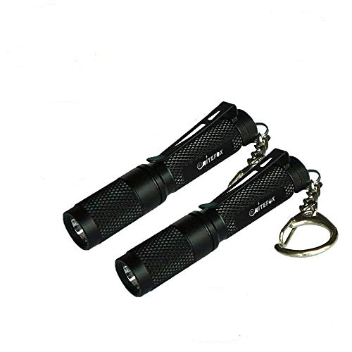 Mini AAA Keychain Flashlight K3 with diffuser,150 Lumens Low/Medium/High and Strobe,Small Multipurpose Caplight Camplight Tablelight for EDC,Dog Walking,Reading, Emergency 2 Pack (K3 2 Pack)