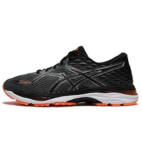 Asics Gel-Cumulus 19, Zapatillas de Running Hombre, Negro (Carbon/Black/Hot Orange), 42 EU