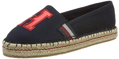 Tommy Hilfiger Damen TH Patch Espadrilles, Blau (Midnight 403), 40 EU