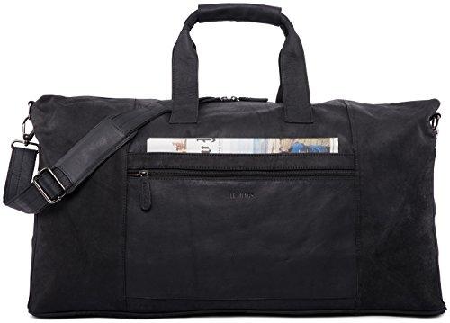 LEABAGS Sydney Reisetasche Handgepäcktasche Sporttasche aus echtem Leder im Vintage Look, (LxBxH): ca....