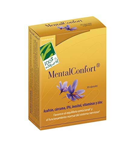 100% Natural MentalConfort complemento alimenticio 30 cápsulas