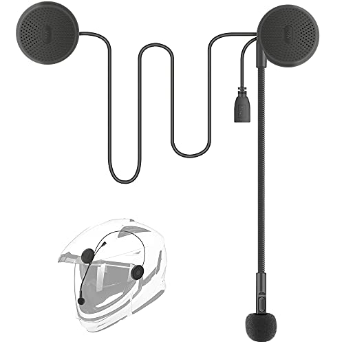 YOVDA Bluetooth Helmet Headset, Ultra-Thin Motorcycle Helmet Speakers, Automatically Answer Incoming Calls, Volume Control, Dial Control, High Sound Quality Helmet Bluetooth System