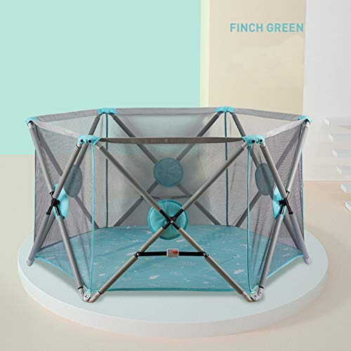 Find Bargain Z-Wlan Portable Baby Playpen, Child Fence Breathable Waterproof Mesh Easy to Install an...