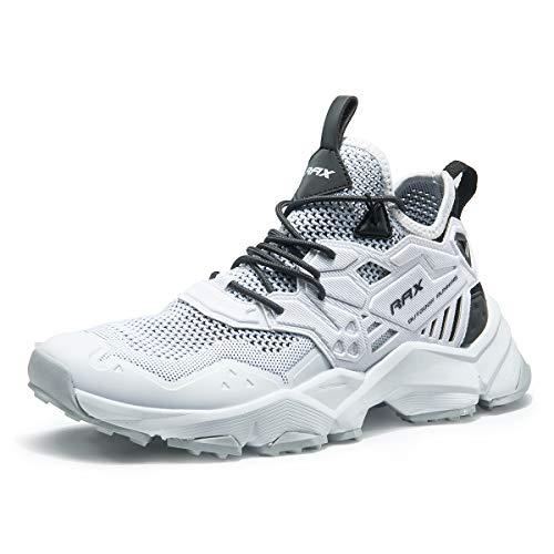 RAX Men's Ventilation Hiking Shoe Outdoor Trail Running Sneaker White