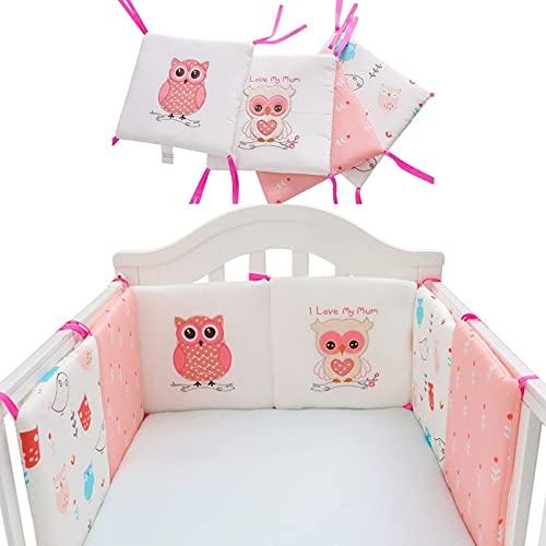 LOPADE Baby Cuna Parachoques Patrón De Búho Cubierta De Riel De Cuna De Bebé Cojín Interior Cuna De Envoltura Segura Protector De La Protección De La Cama Liner AntiParachoques Adaptable