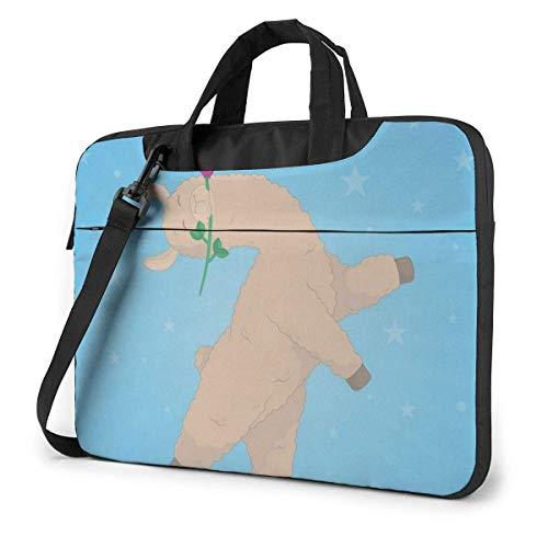 Cartoon Llama Laptop Sleeve Case 15.6 Inch Computer Tote Bag Shoulder Messenger Briefcase for Business Travel