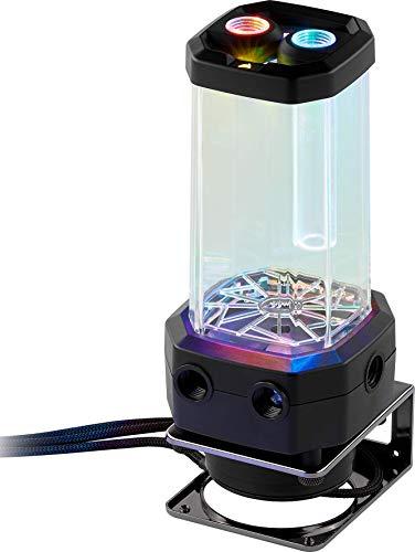 Corsair Hydro X Series XD5 RGB Pumpen/Ausgleichsbehälter-Kombination (Leistungsstarke Xylem D5 PWM-Pumpe, Integrierte Fillport, Kreislaufinterne Temperaturüberwachung, Anpassbar RGB-Beleucht) schwarz