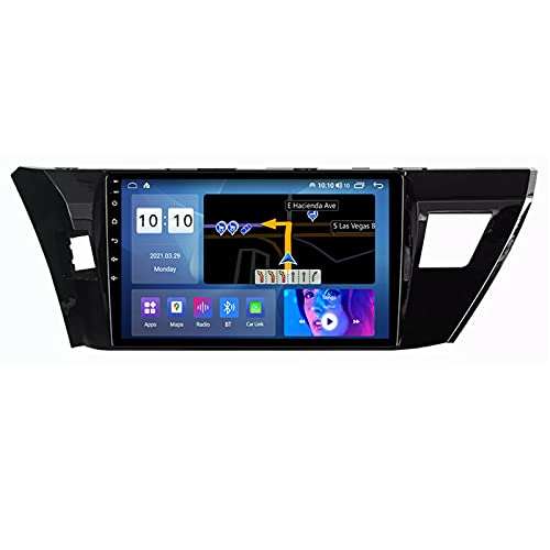 ADMLZQQ para Toyota Corolla 2012-2016 Android 10.0 Radio De Coche Car Stereo Radio 9 Pulgadas Pantalla Táctil con Carplay FM Am Bluetooth DSP Cámara Trasera Control del Volante,C,M200S 8Core 2+32G