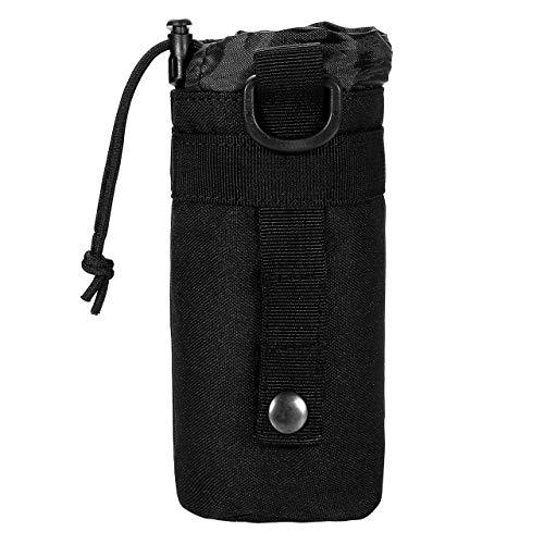 Faletony Taktische Military Flaschenhalter Beutel Nylon Molle System Trinkflasche Beutel Wasserkocher Tasche für Camping Radfahren Laufen Outdoor Sport