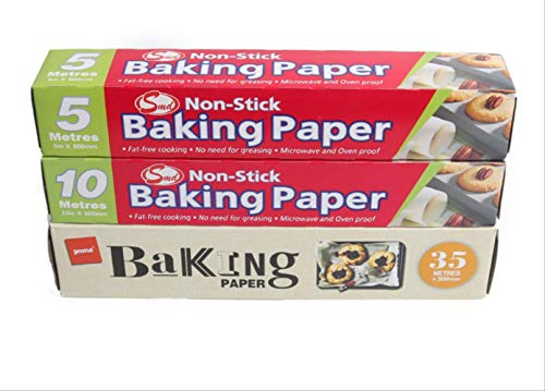 Sothat Silikonölpapier, Backöl Absorbierendes Papier, Doppelseitiges Hitzebeständiges Silikonölölpapier, Backblechpapier Backpapier 30 cm * 35 m 35 Meter Ölpapier