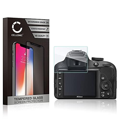 CELLONIC® Cristal Protector de la Pantalla Compatible con Nikon Coolpix AW130 W300 / D3100 D3200 D3300 D3400 D3500 2.5D 0,3mm 9H Alta Transparencia Vidrio Templado Blindado Protector de Pantalla
