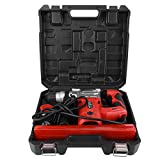 Martillo perforador SDS, 1500 W, martillo demoledor, herramienta eléctrica profesional, 800 / min, 4,9 J, con maletín y accesorios (enchufe europeo 220 V)