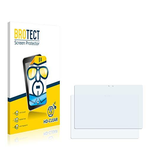 BROTECT Schutzfolie kompatibel mit Point of View Mobii WinTab 1000BW (2 Stück) klare Bildschirmschutz-Folie