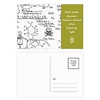 計算有機化学実験 詩のポストカードセットサンクスカード郵送側20個